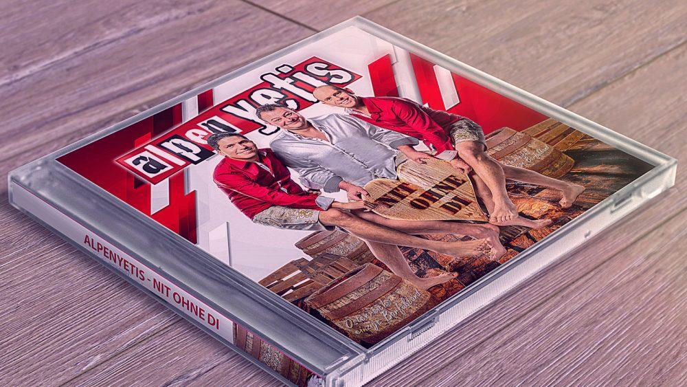 "CD-Hülle Alpenyetis ""Nit ohne di"""