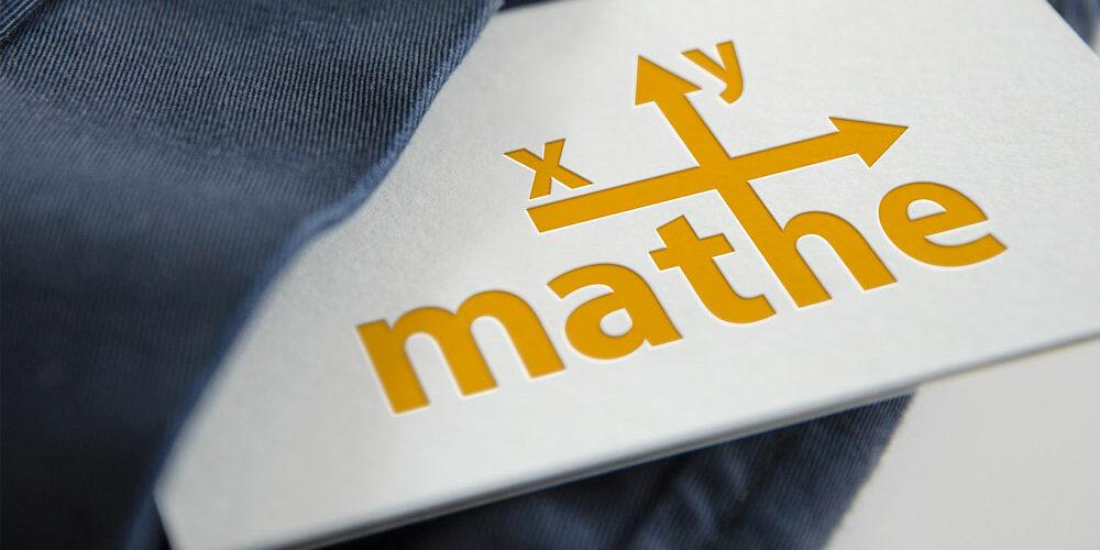 Visitenkarte mit Logo von Mathe xy