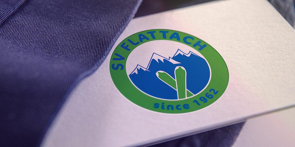 Visitenkarte mit SV Flattach Logo