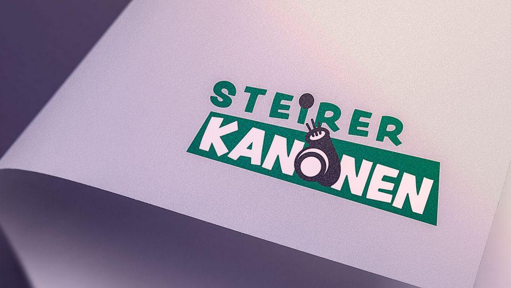 Logo der Steirerkanonen auf einem weißen Blatt Papier