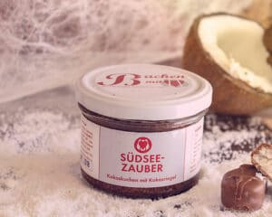 Printdesign: Südseezauber Kuchenglas Backen mit Herz e. U.