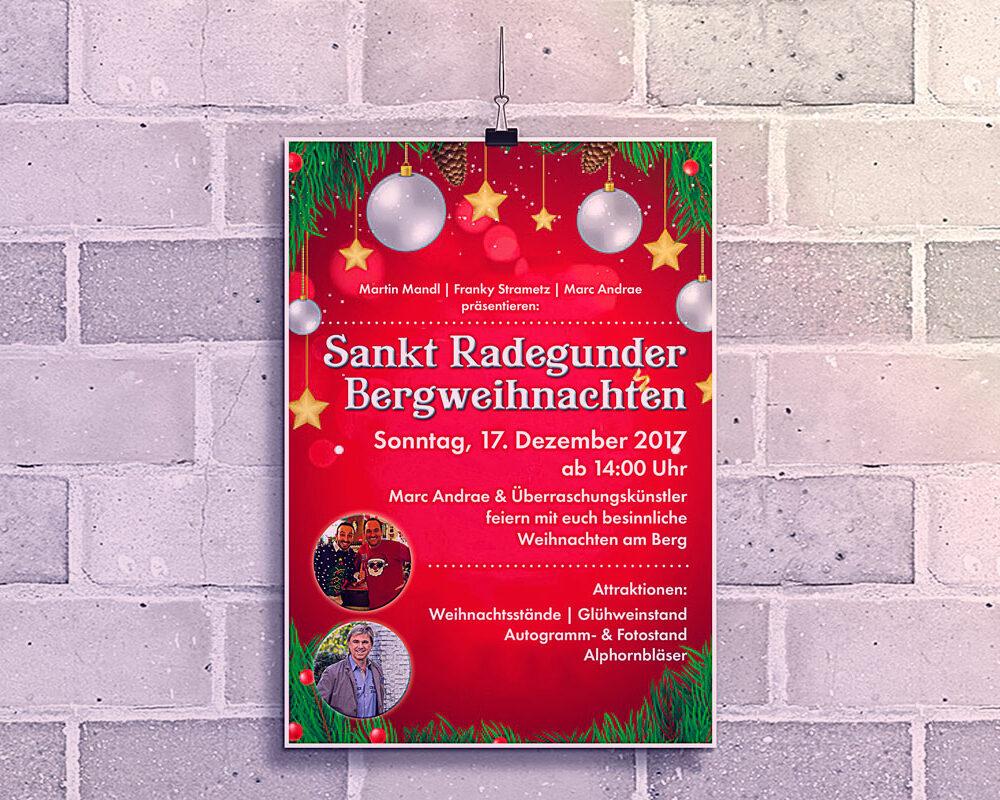 Plakat Bergweihnacht CurCafe St. Radegund