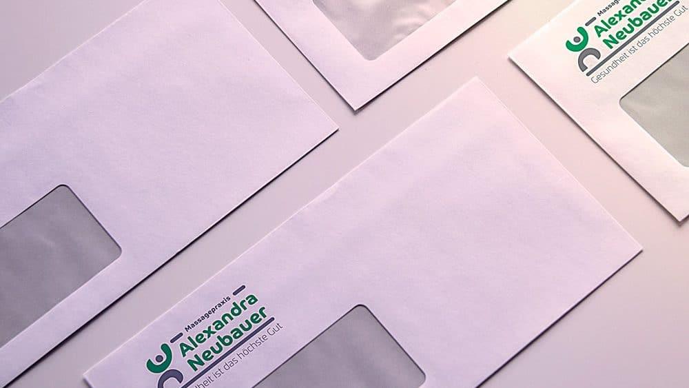 Briefpapier mit Logo Alexandra Neubauer