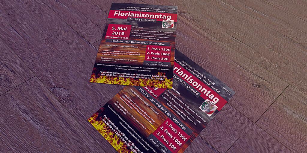 Flyer FF St. Oswald Florianisonntag 2019