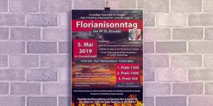 Plakat FF St. Oswald Florianisonntag 2019