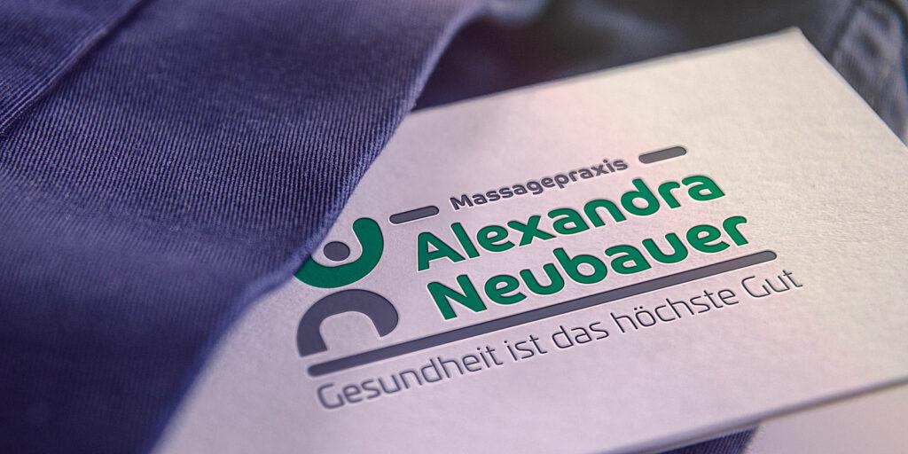 Visitenkarte mit Logo Alexandra Neubauer