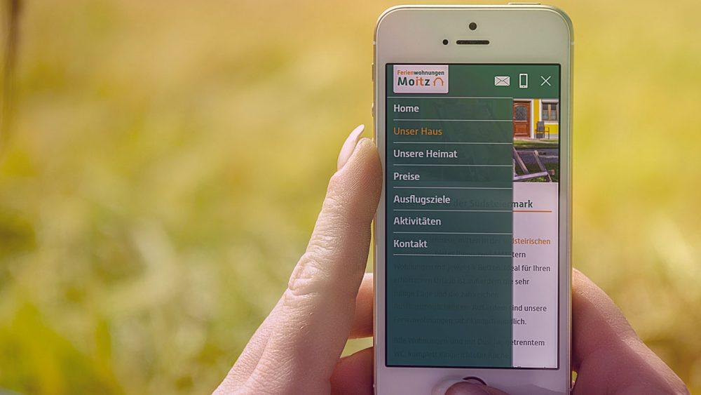 Mockup Website Moitz Ferienwohnungen