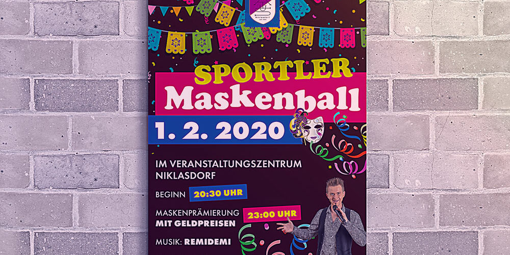 Plakate Sportlerball ASKÖ Niklasdorf