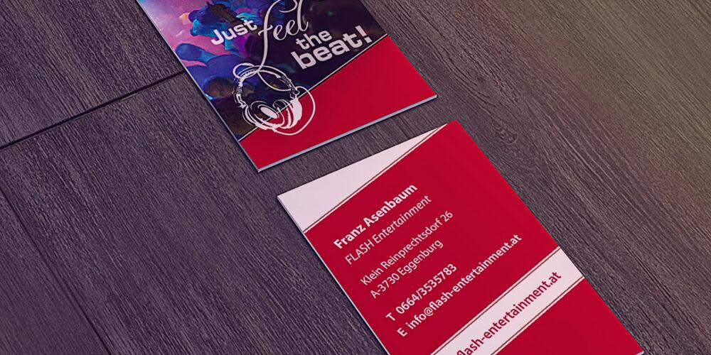 Visitenkarte von Flash Entertainment