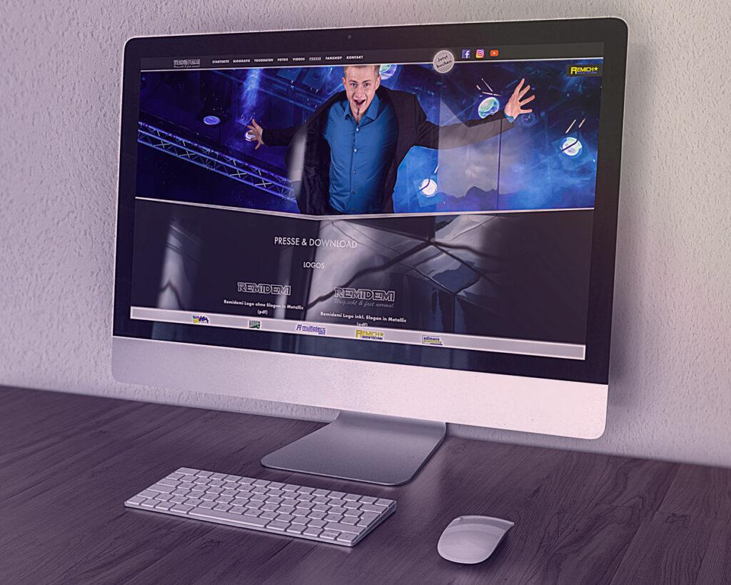 Website Remidemi Ansicht Desktop