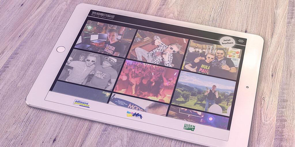 Website Remidemi Ansicht Tablett