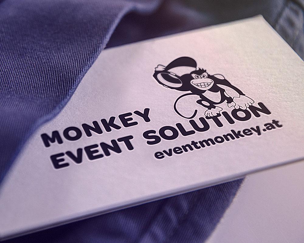 Monkey Event Solution Visitenkarten