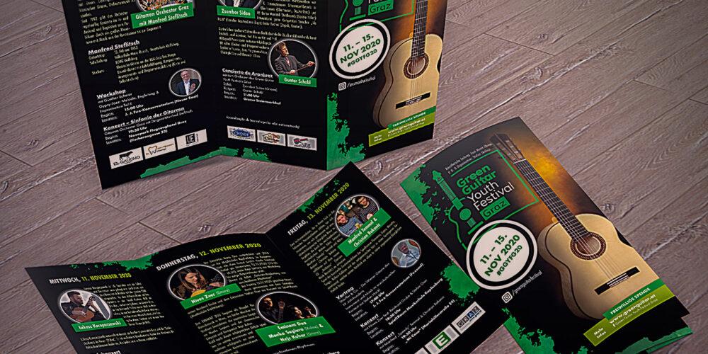 Green Guitar Youth Festival Graz Flyer-Mockup