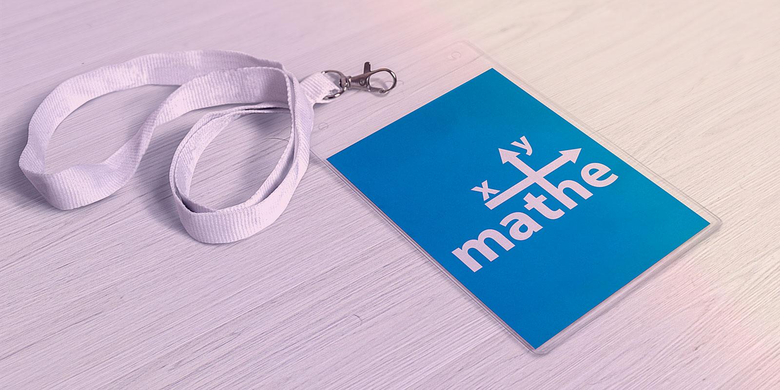Invertierte Marke Mathe xy – Mockup Lanyart