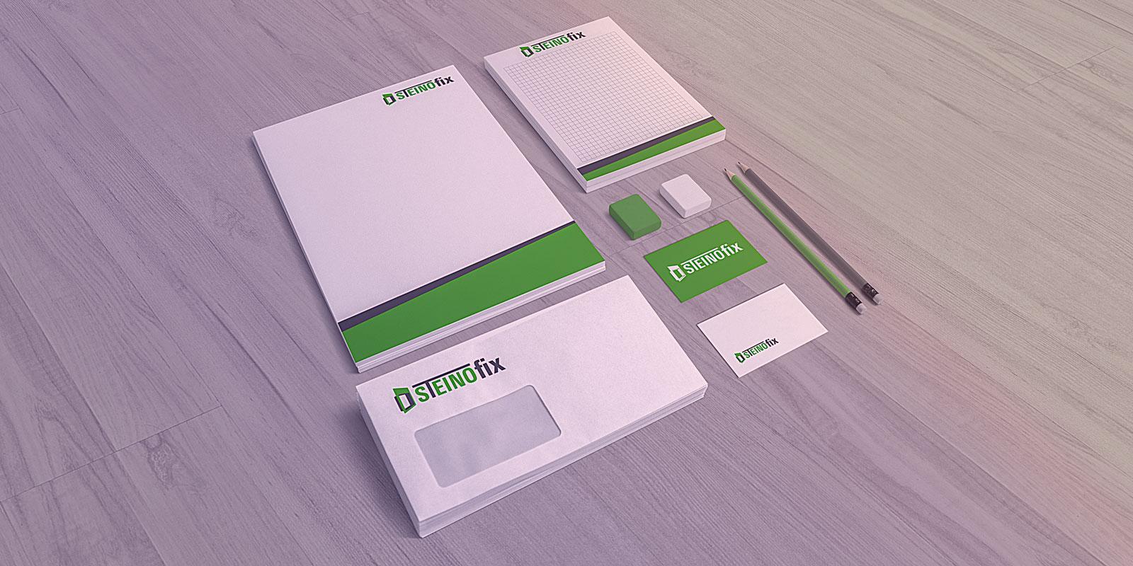 Corporate Design Mockup Steinofix e. U.