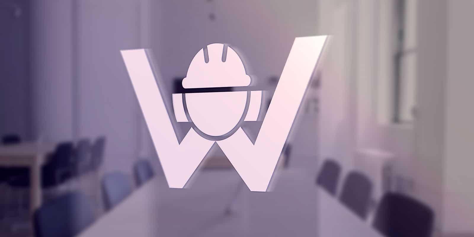 Mockup Logo Wesener – Glasscheibe